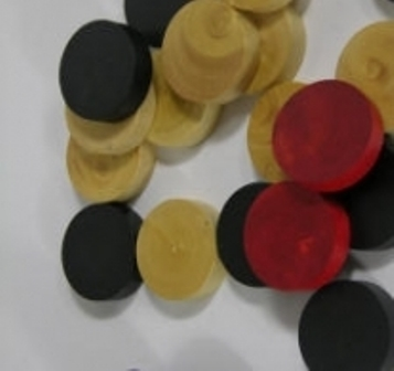 Carom Red & Black Coins